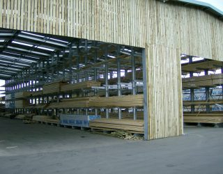 12. Cantilver Racking in a Purpose built timber clad building